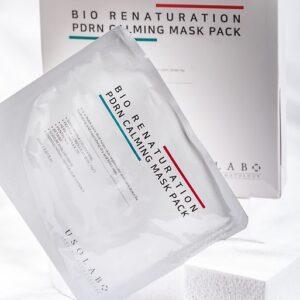 Usolab PDRN Calming mask pack, Успокаивающая тканевая маска на основе ПДРН и полипептидного комплекса